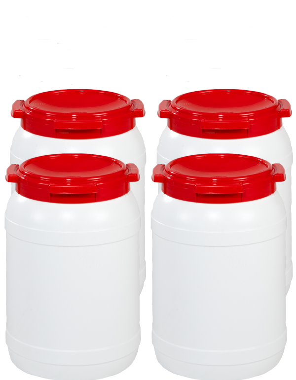 26 Litre Wide Neck Plastic Drum - Pack of 4 Drums